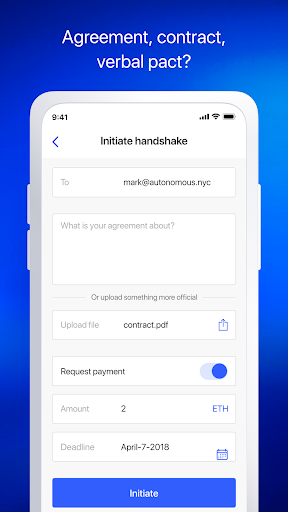 Handshake: your word is code Business app for Android Preview 1