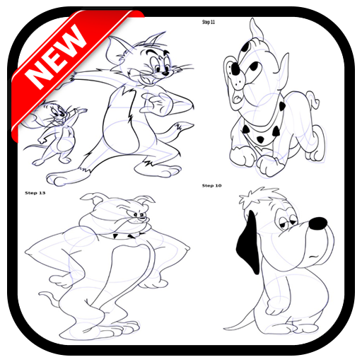 how to draw toms jerry and friends (app)