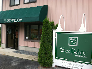 Photo: Wood Palace Kitchens in Middleboro, MA proudly displaying their BBB Accreditation