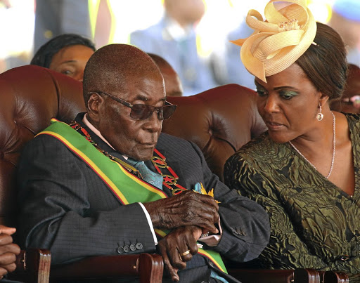 Zimbabwean President Robert Mugabe and his wife Grace attend a rally to mark the country's 37th independence anniversary in Harare, Zimbabwe, April 18, 2017. Picture: REUTERS/PHILIMON BULAWAYO