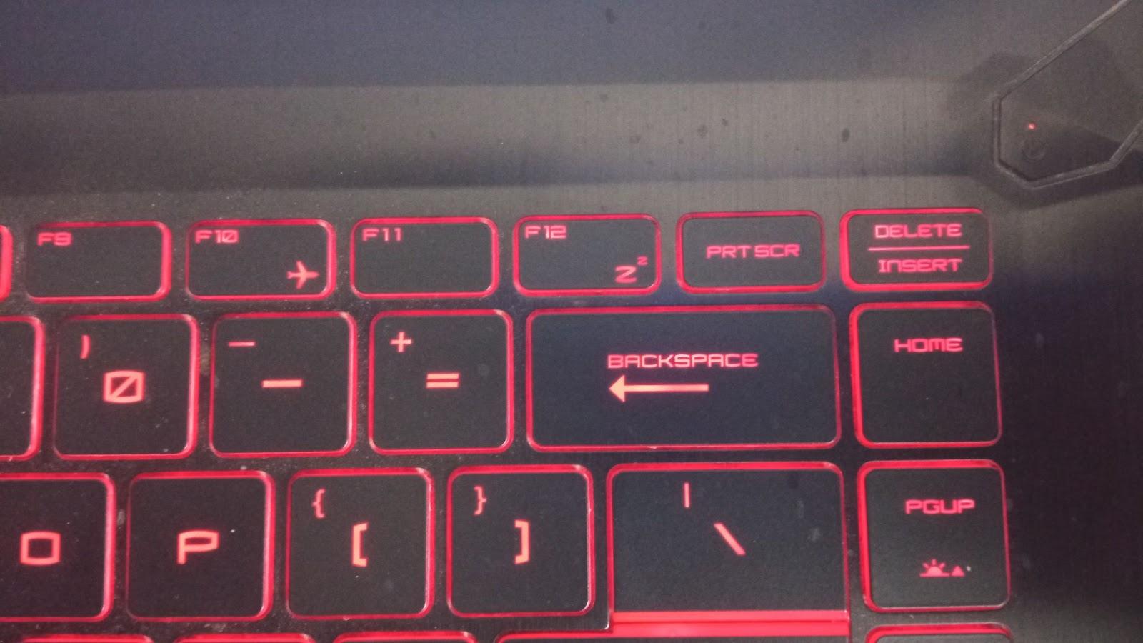F10, F11 and Delete keys on a laptop keyboard