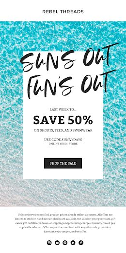 Sun's Out Fun's Out - Medium Email item