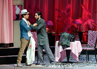 Photo: WIENER STAATSOPER: DON PASQUALE. Inszenierung: Irina Brook. Premiere: 26.4.2015. Juan Diego Florez, Alessio Arduini. Copyright: Barbara Zeininger.