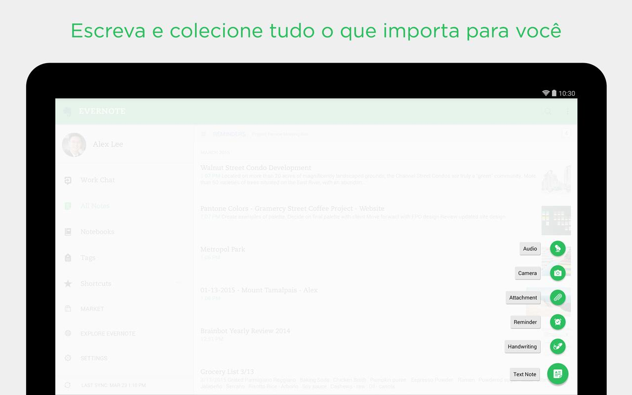 Evernote: captura de tela