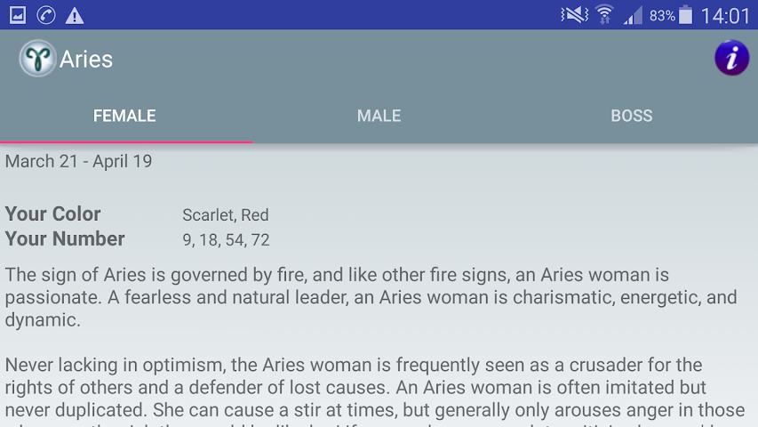 android Zodiac and Sun Signs Secrets Screenshot 26