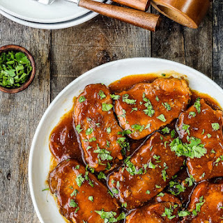 Slow Cooker Honey Garlic Pork Chops.