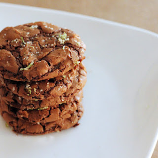 Ancho Chile Chocolate Cookies with Lime Sugar.