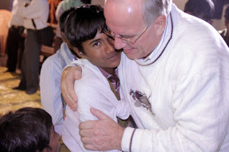 Photo: A hug for my new young brother in Jesus Christ.