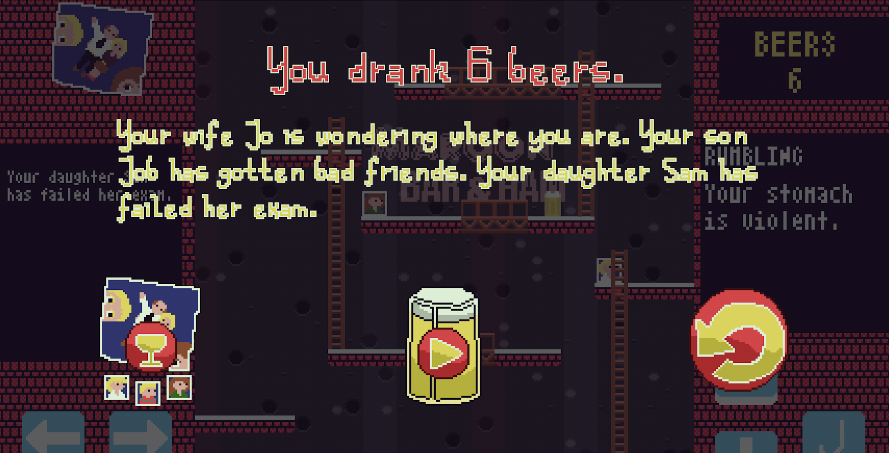 Drink Beer, Neglect Family- screenshot