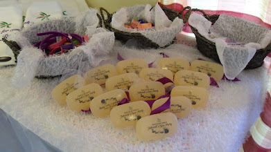 Photo: Towels and Personalized Soap for your Give-aways at you Spa Party by http://www.BestPartyPlanner.net
