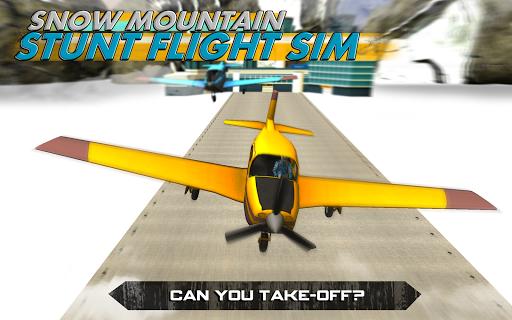 Snow Mountain Stunt Flight Sim