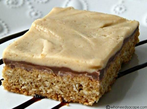 Peanut Butter Frosted Oatmeal Bars Recipe