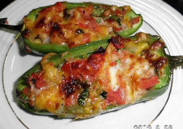 Stuffed Jalapeno Con Queso Poppers
