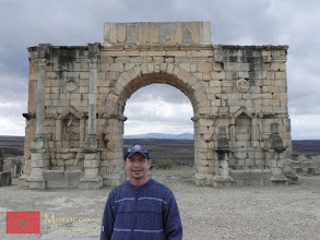 Photo: the triumphal arch in Volubilis