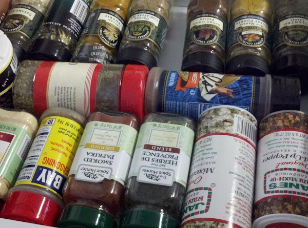 3rd drawer ~ Savory spices holds mostly single spices such as mustard, cilantro, parsley, basil,...