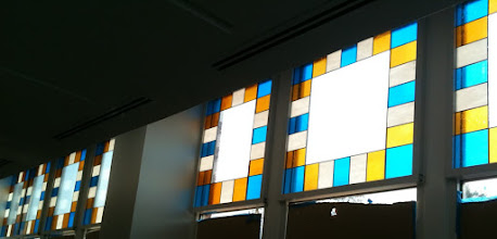 Photo: The Spark Cafe Windows at the Walmart Visitor's Center