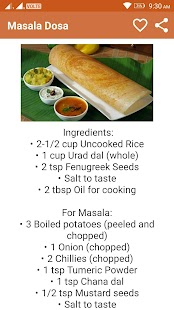 Dosa Recipes in English - náhled