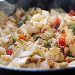 Skillet Fried Cabbage.