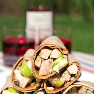Grilled Chicken Wraps with Apples and Brie