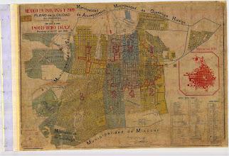 Photo: 1810, 1876 y 1909 Mexico en, plano de la Ciudad y su Progreso durante el Gobierno del Gral. Porfirio Díaz