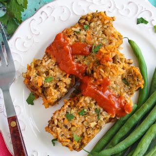 Rice and Lentil Loaf (Vegetarian recipe).