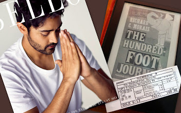 """Photo: Long-awaited movie, """"The Hundred-foot Journey."""" I was thrilled by each dialog and action of Om Puri, one of my most favourite Indian actors who never fail to meet our expectations, smiled at graceful yet charming Helen Mirren, eye-feasted truly-savoury looking dishes including """"innovative"""" ones, enjoyed all co-stars including Juhi Chawla and finally, now I am fallen in love with """"Hassan Haji"""" (starred by Manish Dayal,) like """"many other French women in Paris."""" Peaceful and lovable plot made me feel heaven that lasted even after leaving the screen, and I wished if our world were like that neighbourhood, then there would not have been any war or killing each other. Of course, the music by A. R. Rahman was superb! I immediately purchased the novel and am already dragged into Hassan's world. I am looking forward to seeing them again in Japan in November with my mother. *His photo taken from his official website - http://www.manishdayal.com/ 20th August updated (日本語はこちら) -http://jp.asksiddhi.in/daily_detail.php?id=636"""