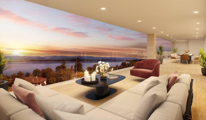 Bien atypique avec terrasse et vue panoramique Cologny