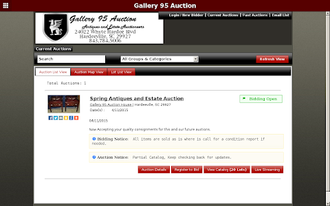 Gallery 95 Auction screenshot 2