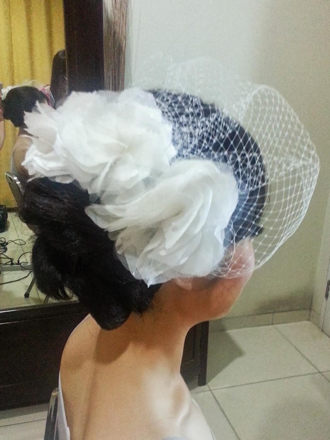 Result: DIY Wedding Birdcage Veil with Flowers - DIY Fashion Accessories   fafafoom.com