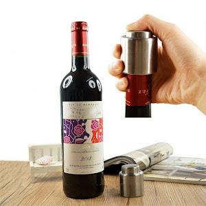 Set 2 x Dop vacuum pentru sticla de vin