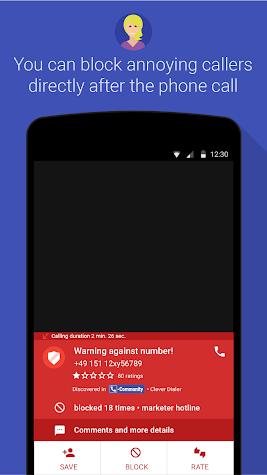 Clever Dialer - caller ID - block calls Screenshot