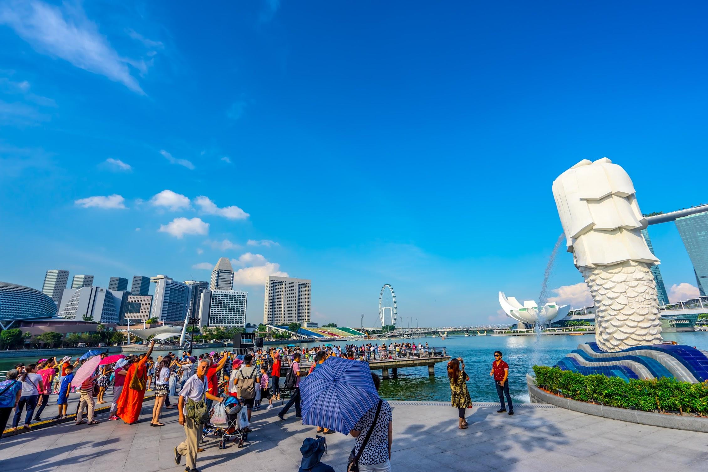 シンガポール マーライオン・パーク1
