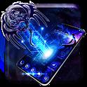 Neon bluefire hale dragon theme icon