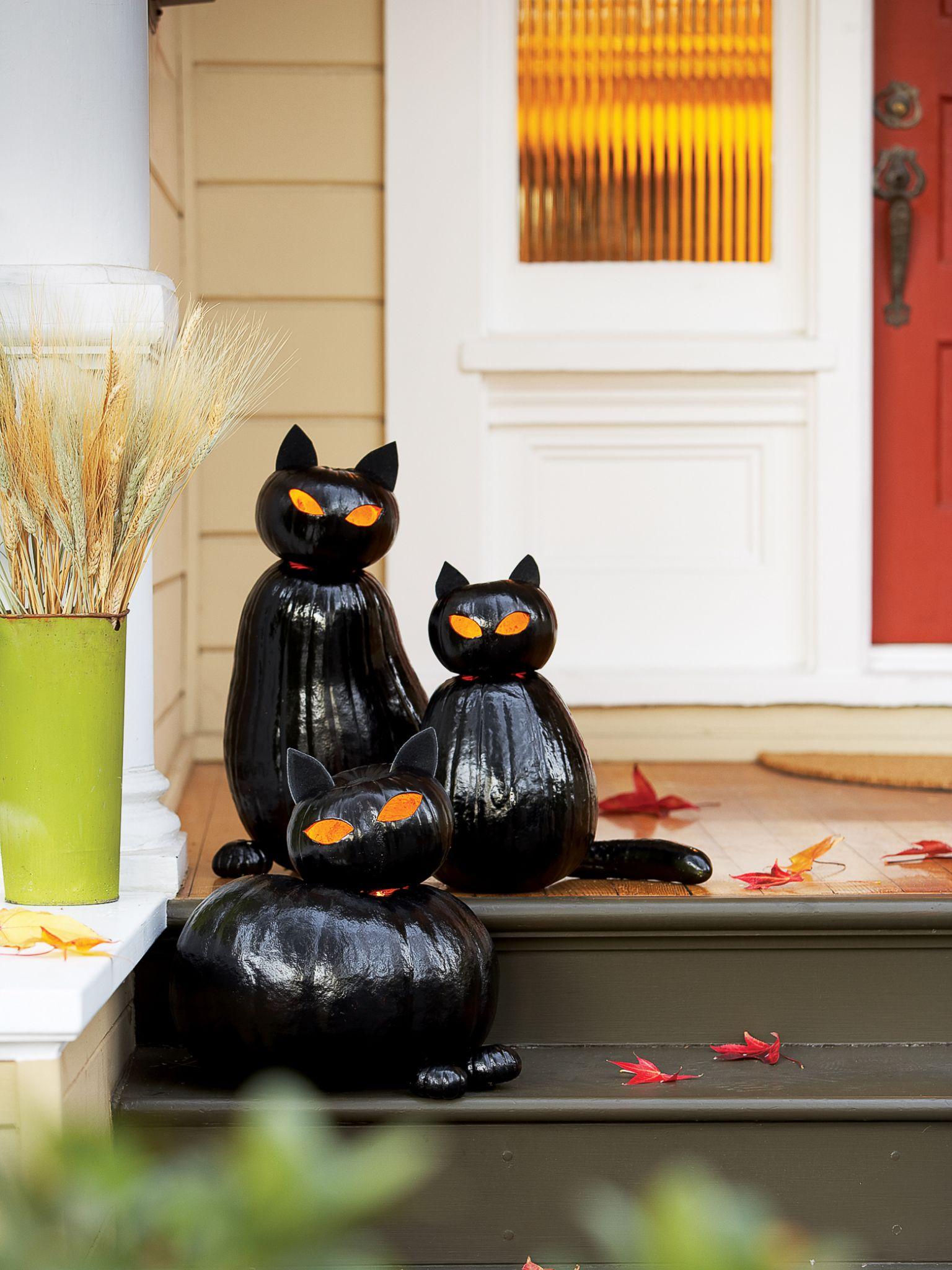 Make Black Cat Pumpkins