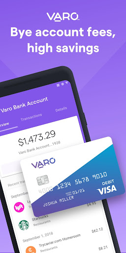 Varo Mobile Banking and Saving  screenshots 1