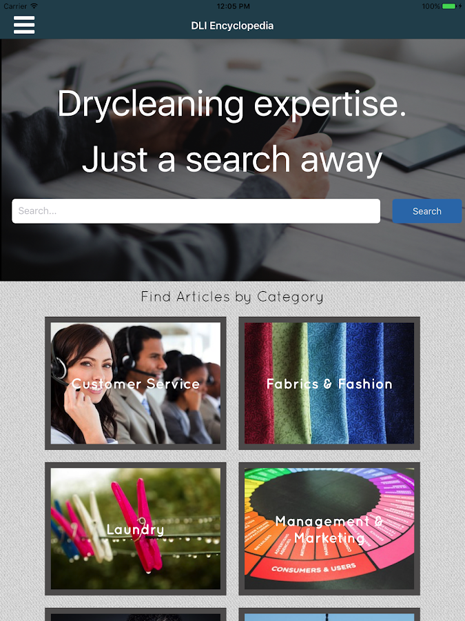 Encyclopedia of Dry Cleaning- screenshot