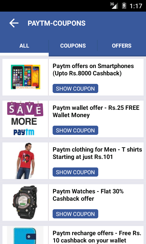 Free Recharge Coupons Offers- screenshot