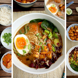Healthy Ramen with Rice Noodles, Tofu and Veggies Recipe