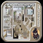 3D Modern Home Floor Plan