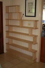 Photo: Paul's bookshelves Silver Ash with Blackwood detailing