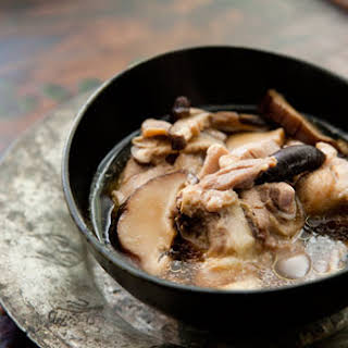 Chicken Soup with Ginger and Shiitake Mushrooms.