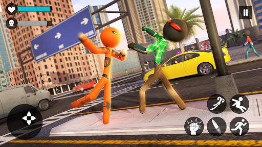 Grand Stickman Rope Hero Crime City screenshot 14