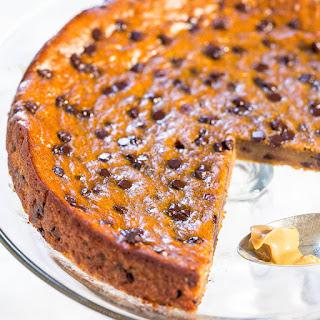 Flourless Peanut Butter Chocolate Chip Blender Cake.