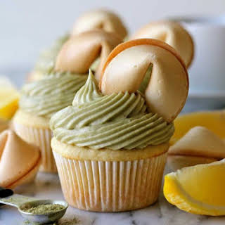 Green Tea Cupcakes with Matcha Cream Cheese Frosting.