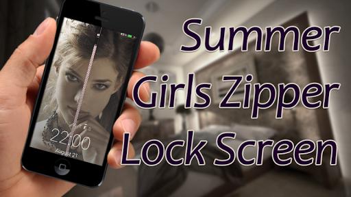 Summer Girls Zipper LockScreen