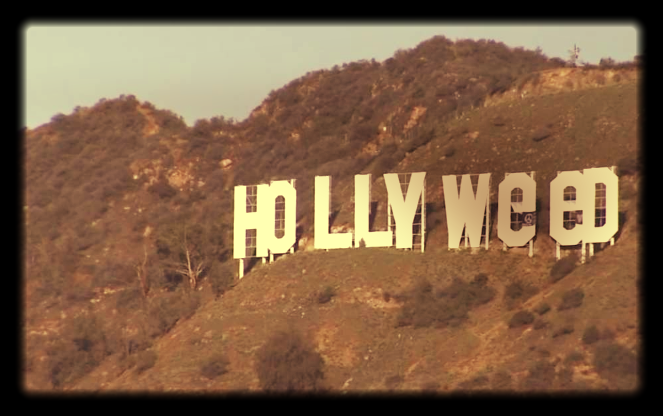 The Hollywood sign after alteration. Picture: REUTERS