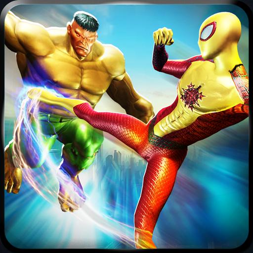 Flying Spider Hero Vs Super Monster: City Battle