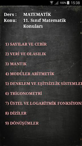 Cepte Ders 11. Su0131nu0131f Matematik 1.1 screenshots 8