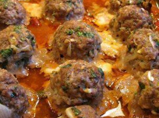 Smoked Mozzarella Stuffed Meatballs Recipe