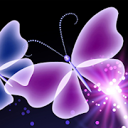 neon butterfly live wallpapers